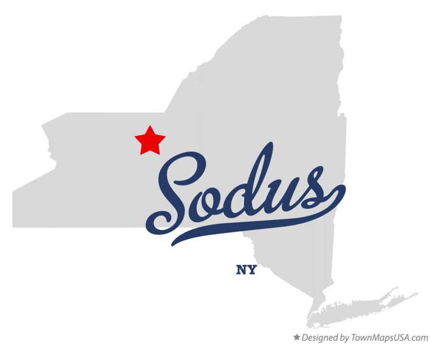 Map of Sodus New York NY