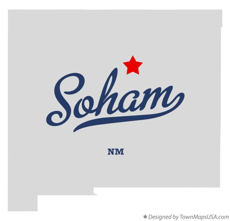 Map of Soham New Mexico NM