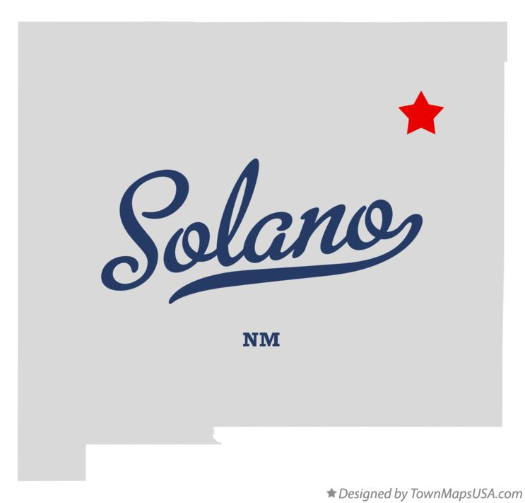 Map of Solano New Mexico NM