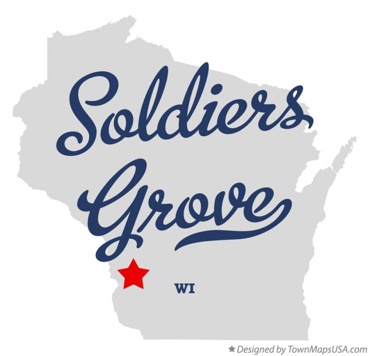 Map of Soldiers Grove Wisconsin WI