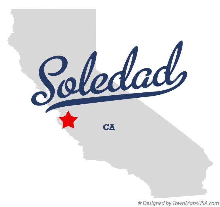 Map of Soledad CA California