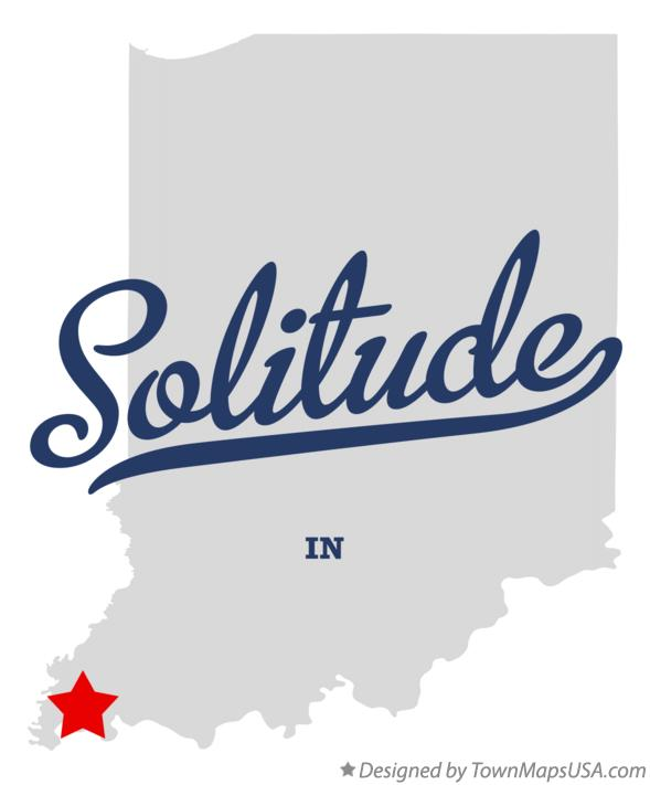 Map of Solitude Indiana IN