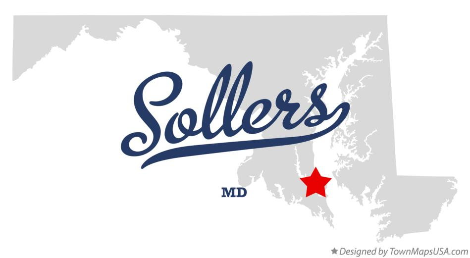 Map of Sollers Maryland MD