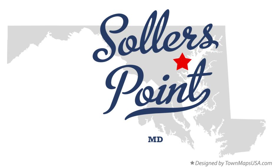 Map of Sollers Point Maryland MD
