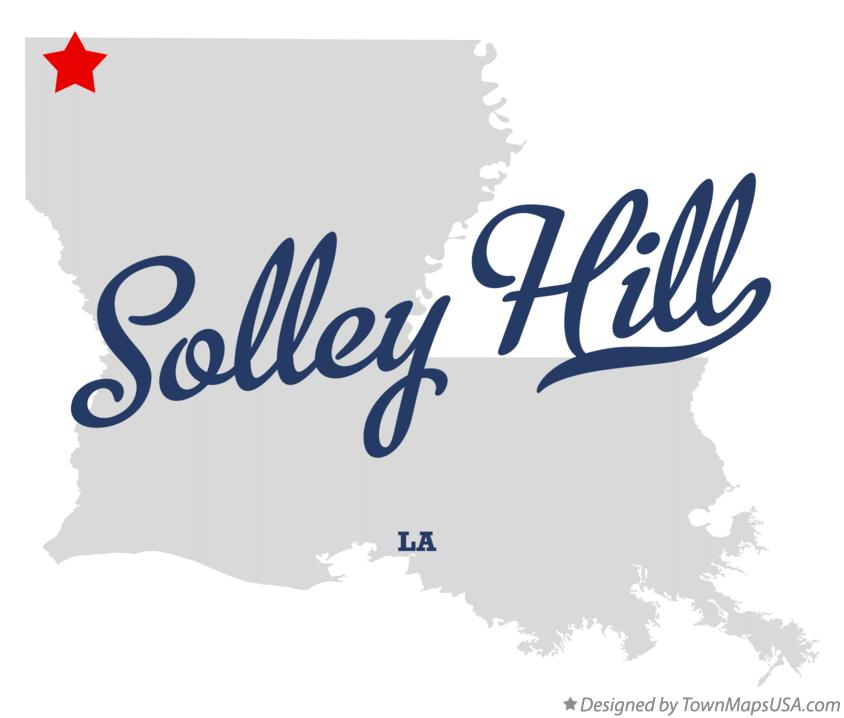 Map of Solley Hill Louisiana LA