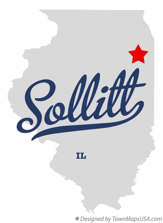 Map of Sollitt Illinois IL