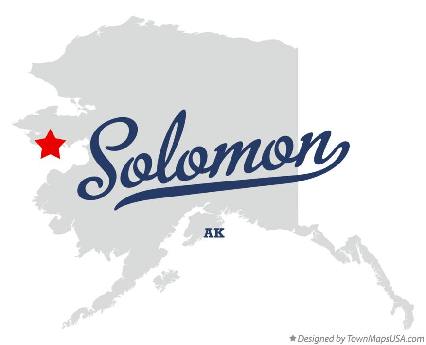 Map of Solomon Alaska AK