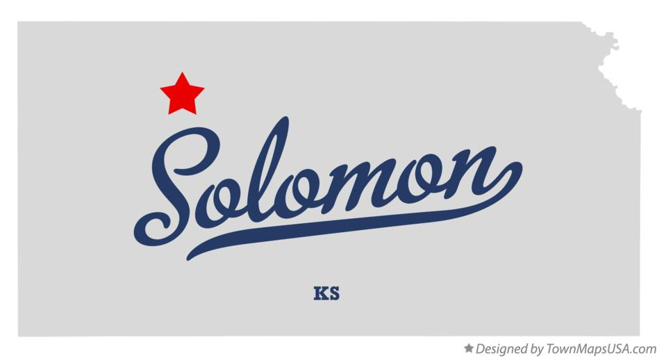 Map of Solomon Kansas KS