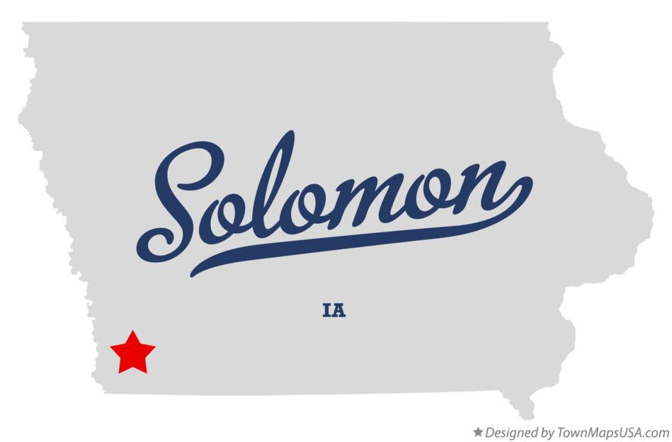 Map of Solomon Iowa IA