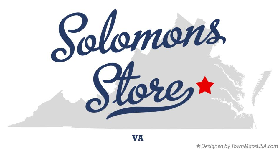 Map of Solomons Store Virginia VA