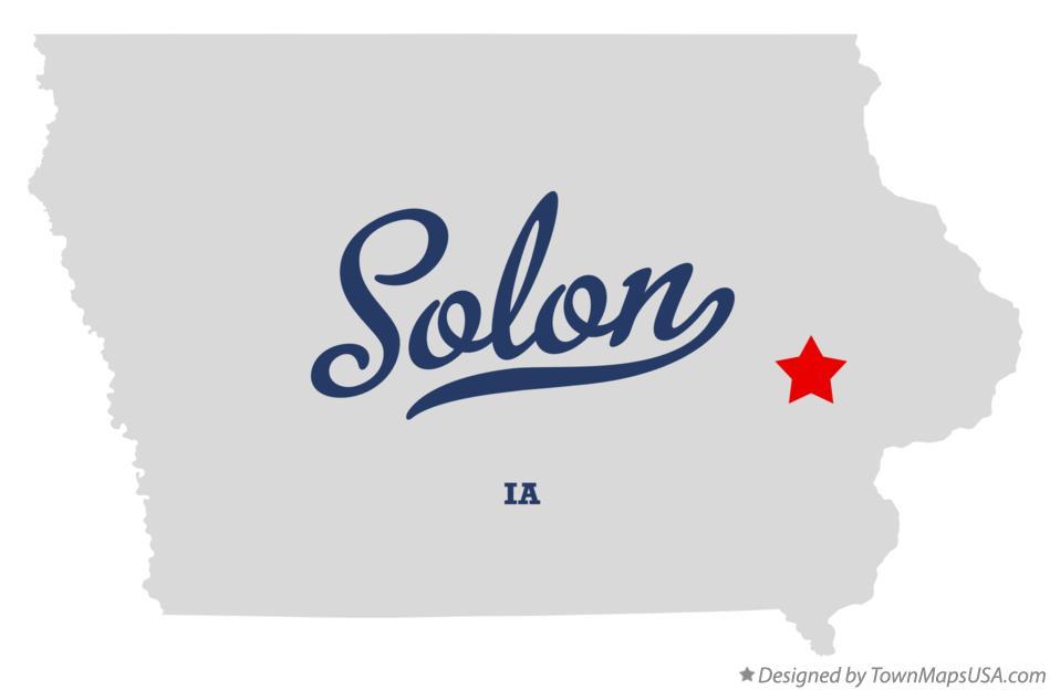Map of Solon, IA, Iowa