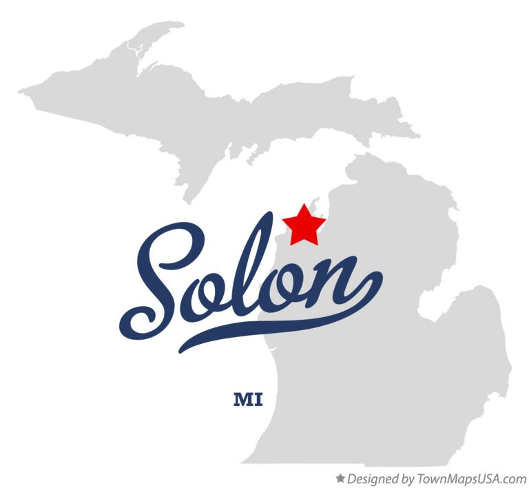 Map of Solon Michigan MI