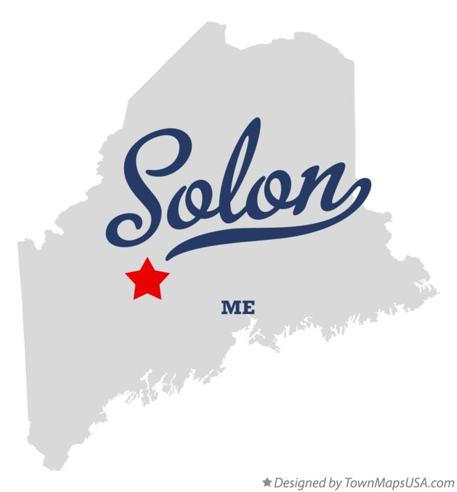 Map of Solon Maine ME