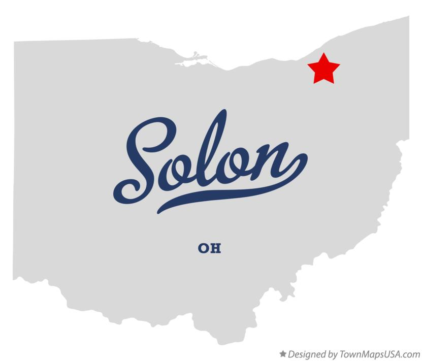 Map of Solon Ohio OH