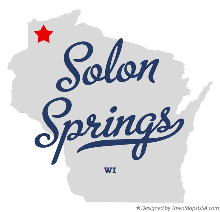 Map of Solon Springs Wisconsin WI