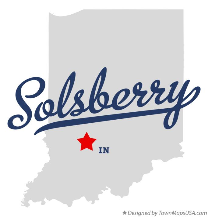 Map of Solsberry Indiana IN