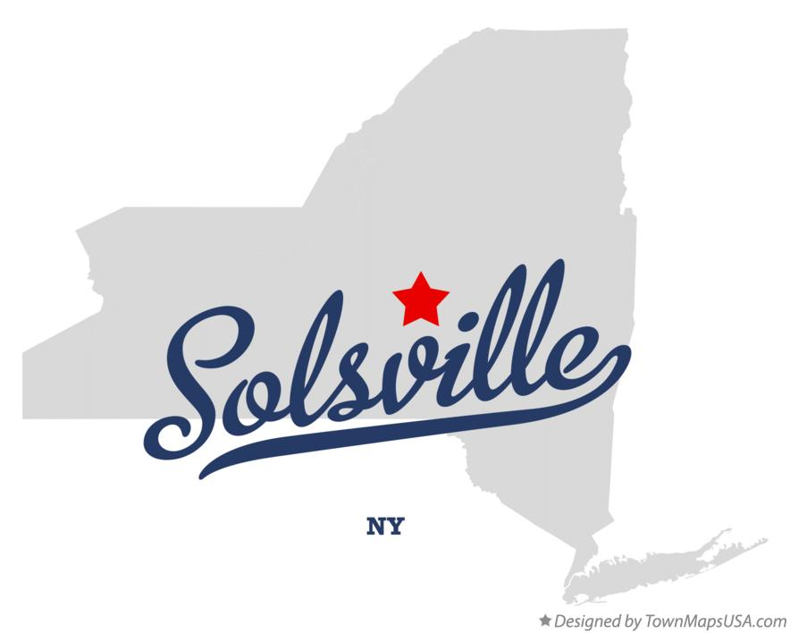 Map of Solsville New York NY