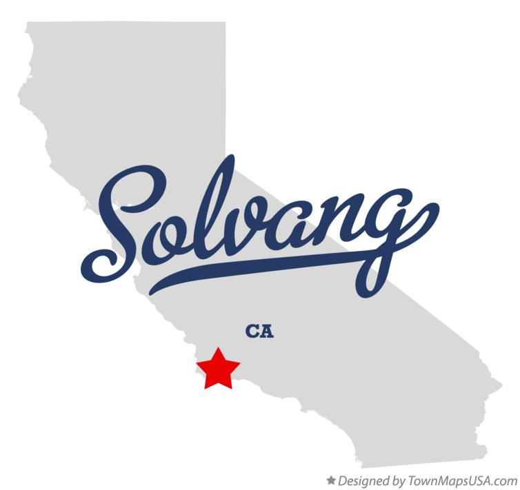 Map of Solvang California CA