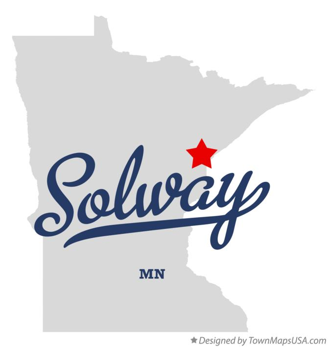 Map of Solway Minnesota MN