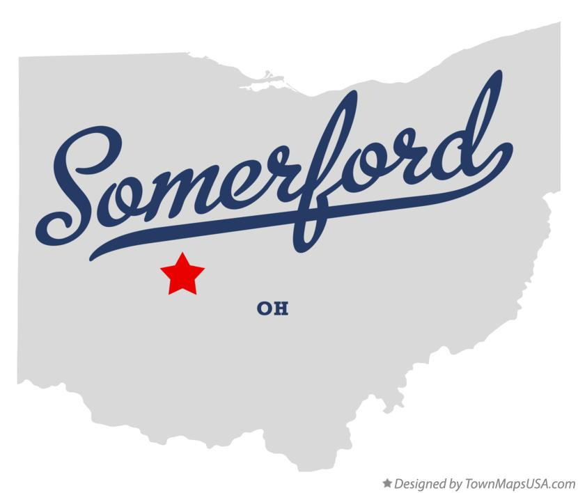 Map of Somerford Ohio OH