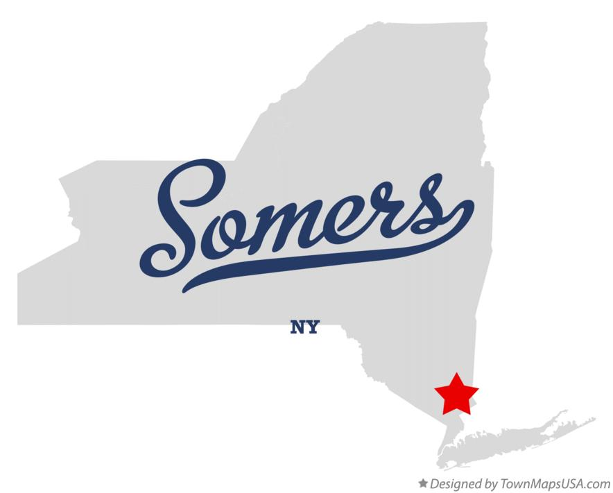 Map of Somers New York NY