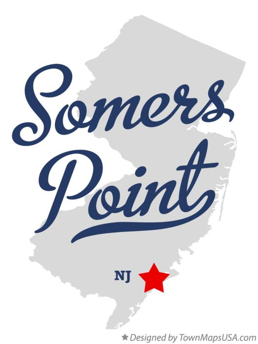 Map of Somers Point New Jersey NJ