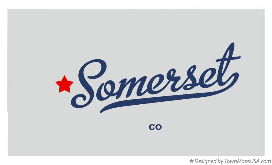 Map of Somerset Colorado CO