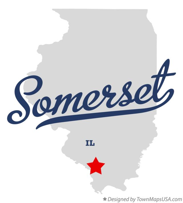 Map of Somerset Illinois IL