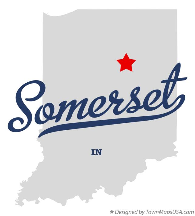 Map of Somerset Indiana IN