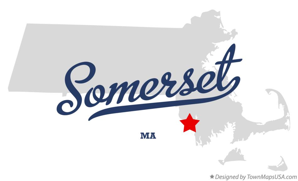 Map of Somerset Massachusetts MA