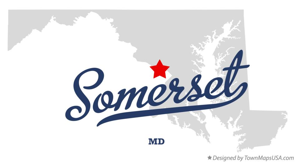 Map of Somerset Maryland MD