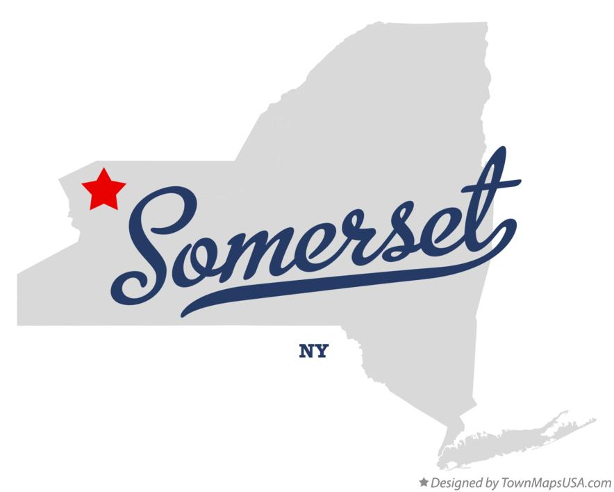 Map of Somerset New York NY