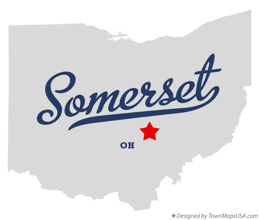 Map of Somerset Ohio OH