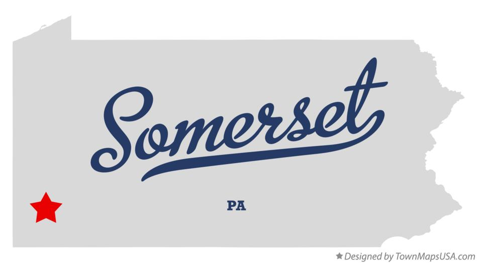 Map of Somerset Pennsylvania PA