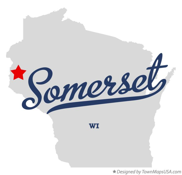 Map of Somerset Wisconsin WI