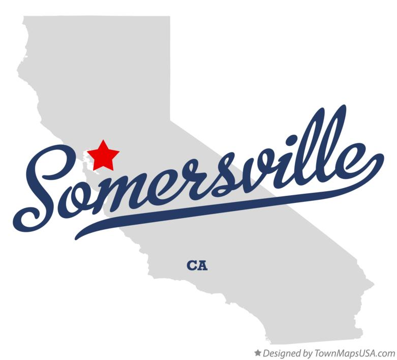 Map of Somersville California CA