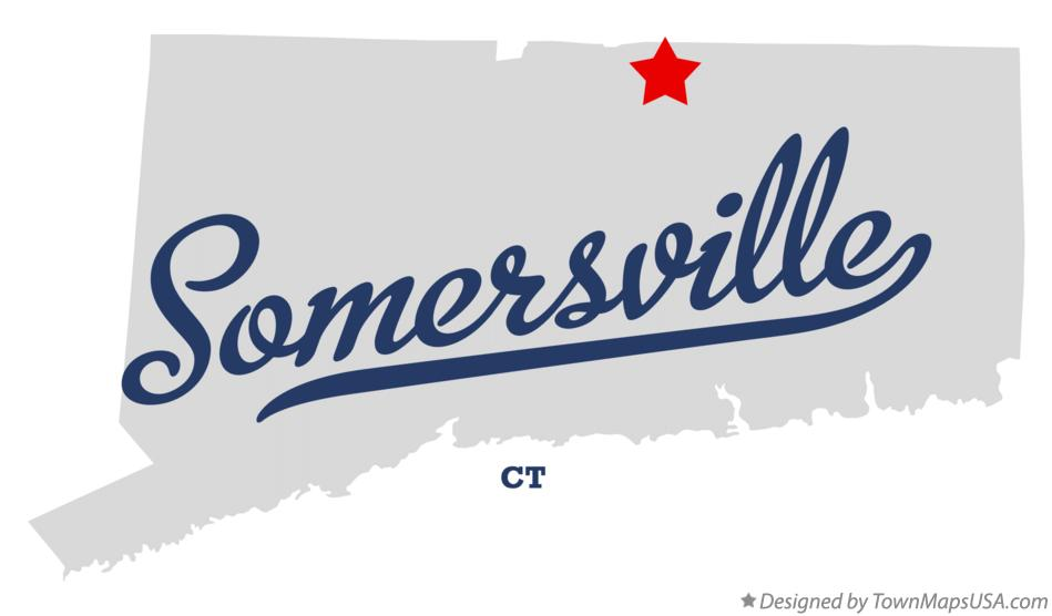 Map of Somersville Connecticut CT