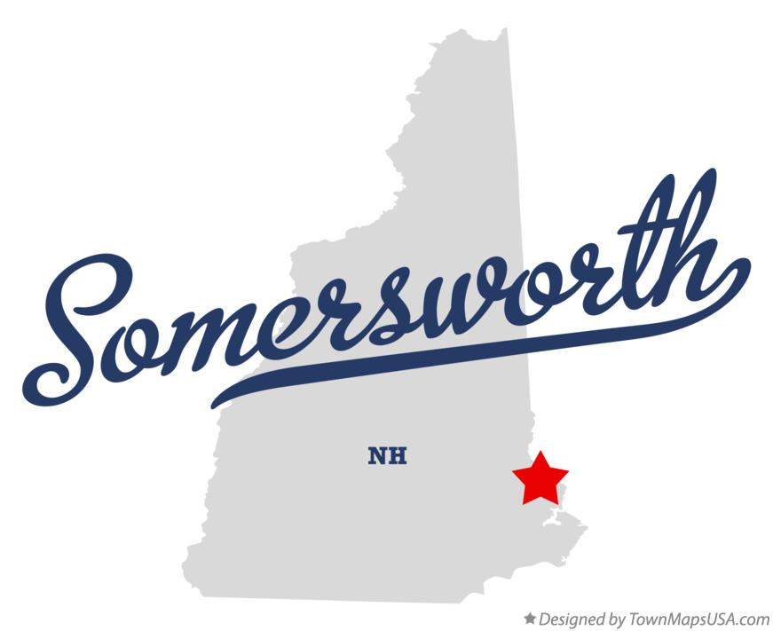Map of Somersworth New Hampshire NH