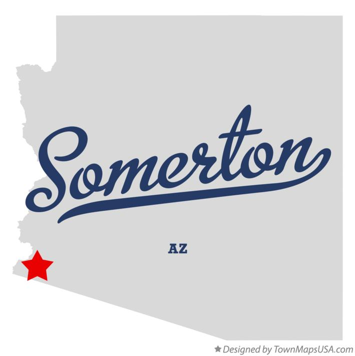 Map of Somerton Arizona AZ