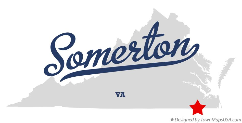 Map of Somerton Virginia VA