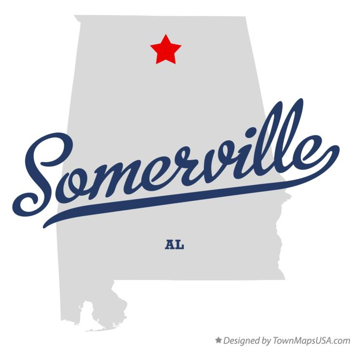 Map of Somerville Alabama AL