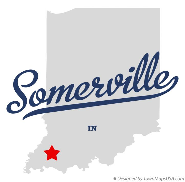 Map of Somerville Indiana IN