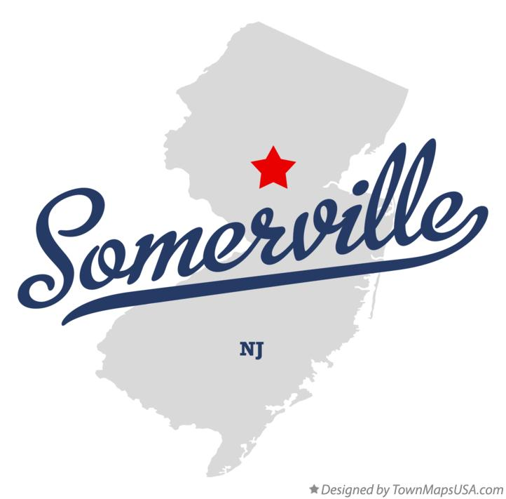 Map of Somerville New Jersey NJ