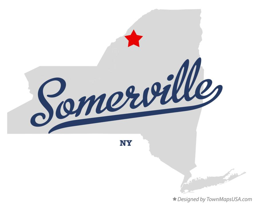 Map of Somerville New York NY