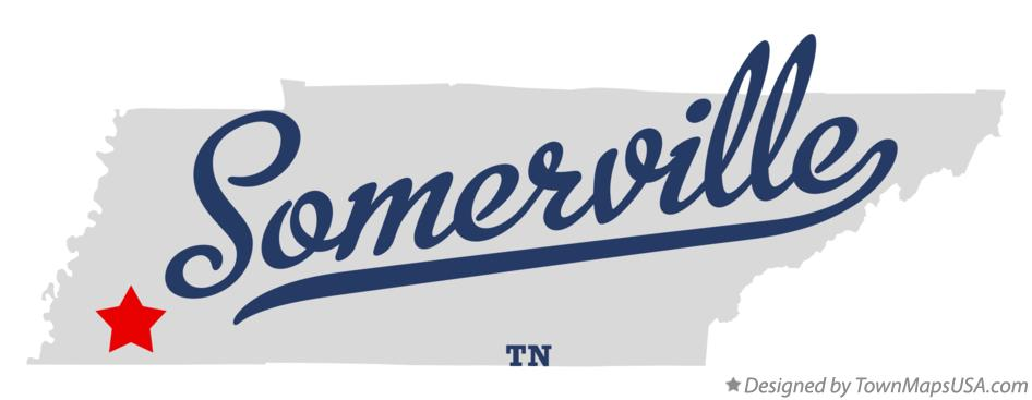 Map of Somerville Tennessee TN