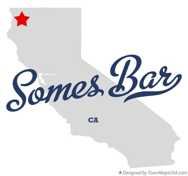 Map of Somes Bar California CA