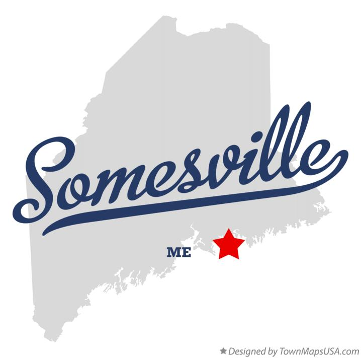 Map of Somesville Maine ME