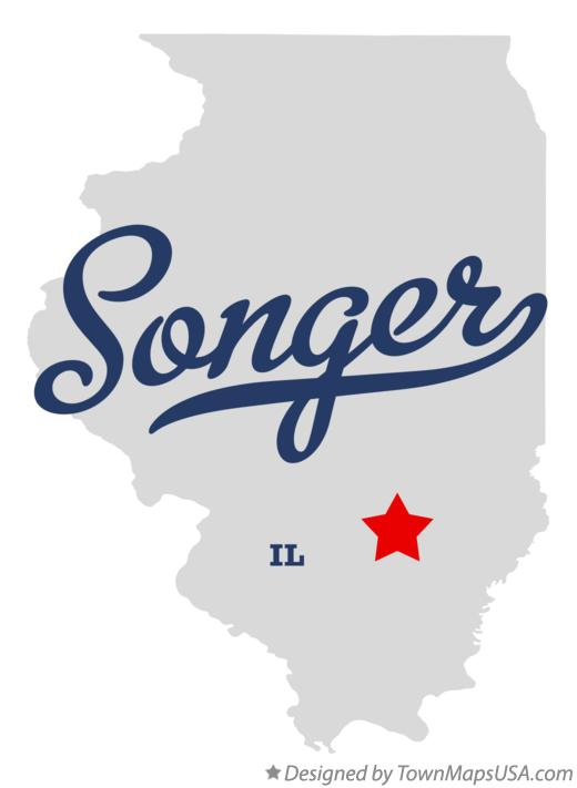 Map of Songer Illinois IL