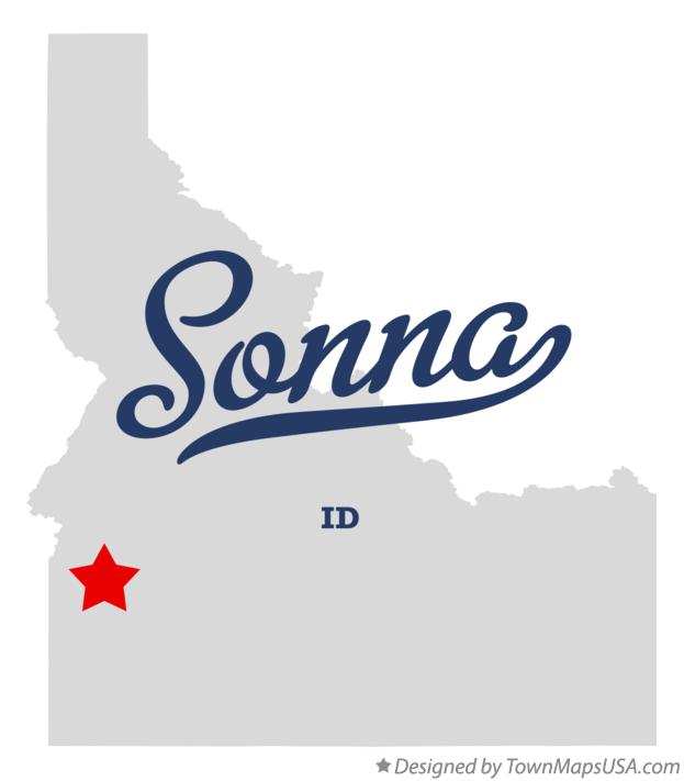 Map of Sonna Idaho ID