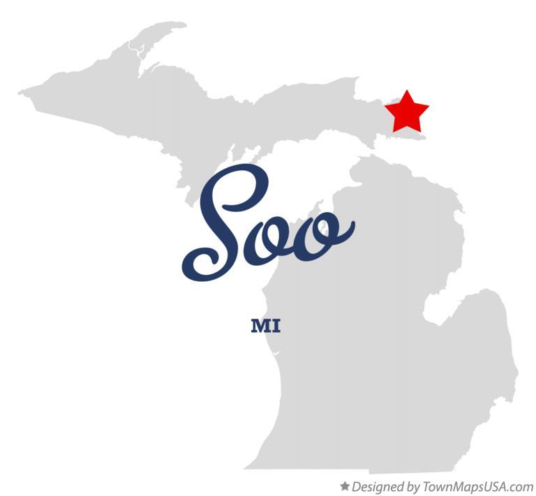 Map of Soo Michigan MI